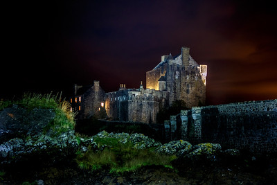 Dunvegan Castle at night, Scotland