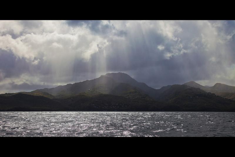 sunbeams on the coastline st lucia 2