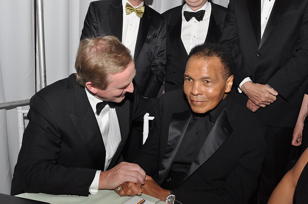 Taoiseach Enda Kenny with Muhammad Ali at The Ireland Fund's Gala, NYC 2011 © James Higgins 2020