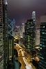 Conrad room view, Central Hong Kong at night.