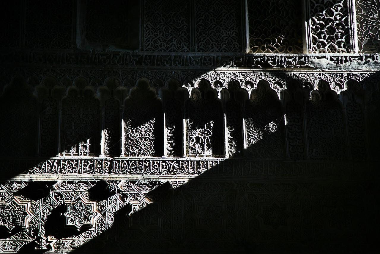 medersa wall 2 fes morocco