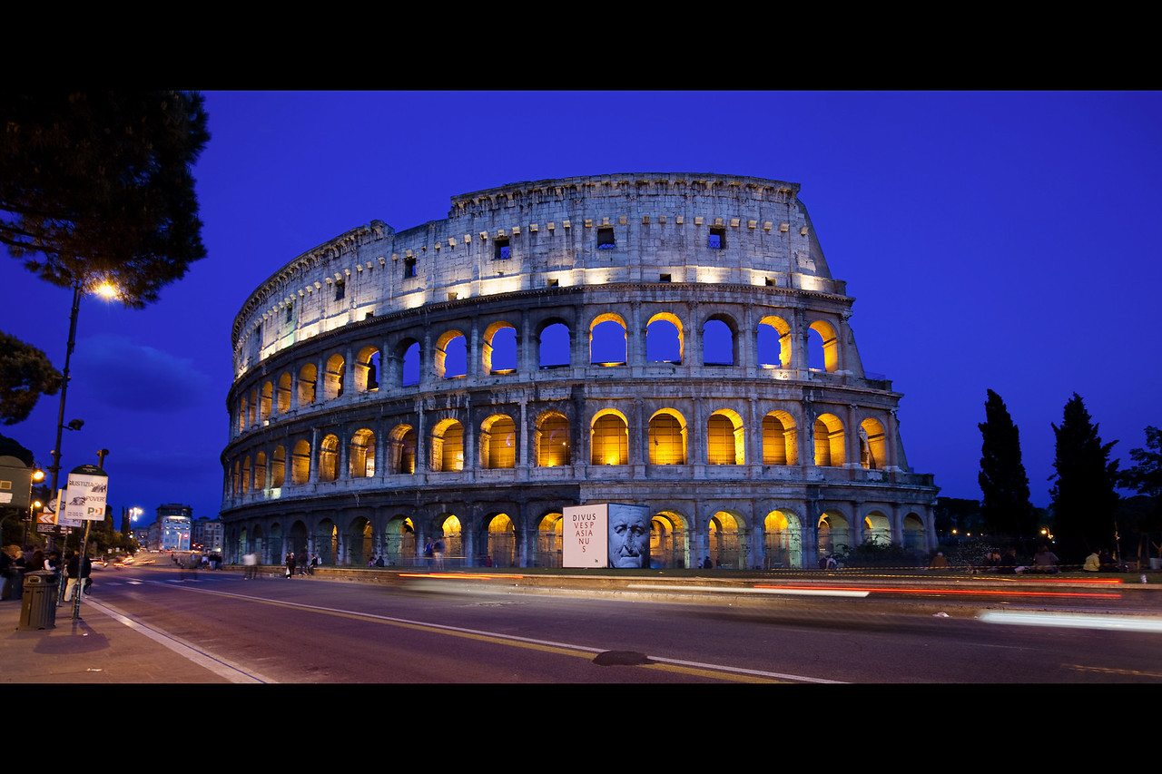 rome colosseum at night 3