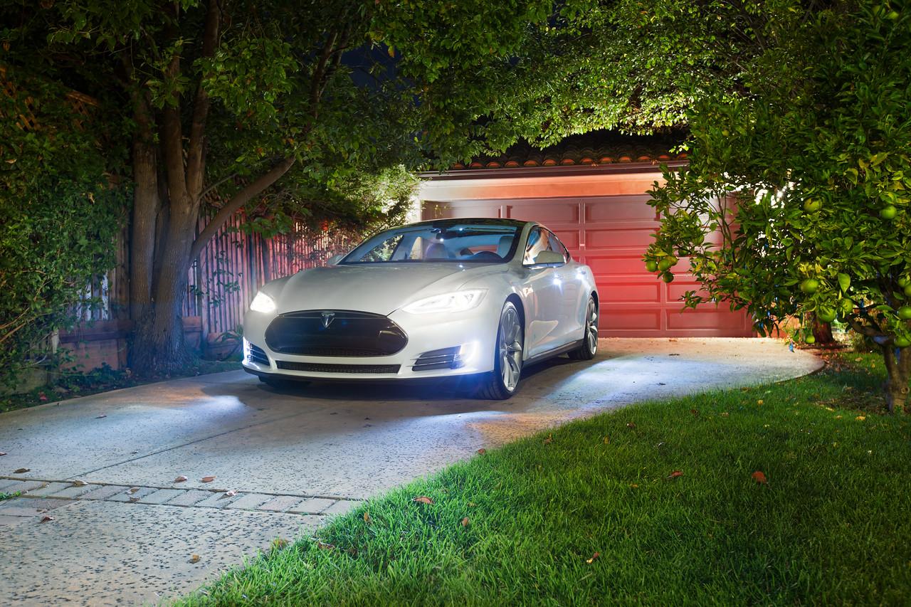 tesla model s driveway