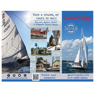 Brochure outside Sail On Tall Tales