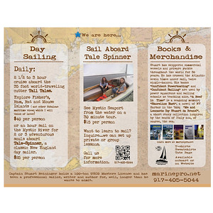 Brochure interior Sail On Tall Tales