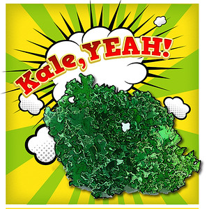 Kale Poster bright yellow