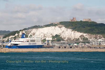 Arriving at Dover Eastern Docks.