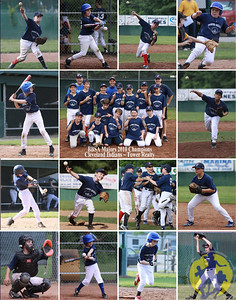 Features:     Team photo in center (horizontal)    13 action shots (vertical) of each athlete surrounding        team photo    1 team celebration shot  Size: 11 x 14
