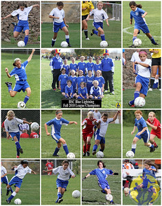 Features:     Team photo in center (horizontal)    14 action shots (vertical) of each athlete surrounding       team photo  Size: 11 x 14