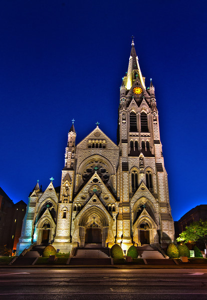 St. Francis Xavier Church on the campus of St. Louis University