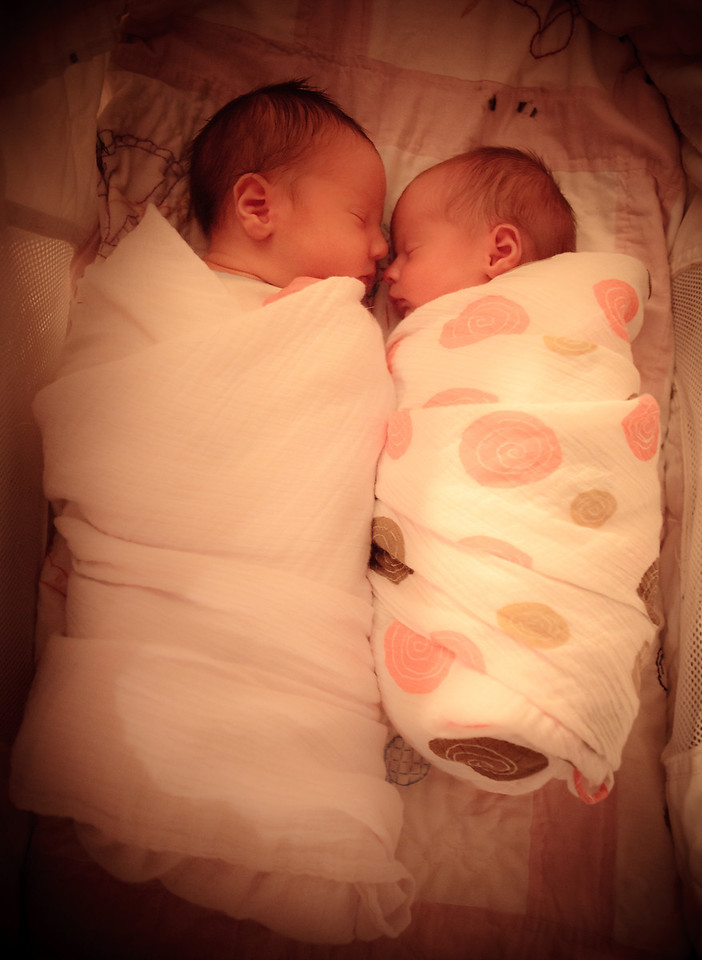 She looks tiny next to her big bro.  Funny thing is, HE looks tiny without her in the pic!