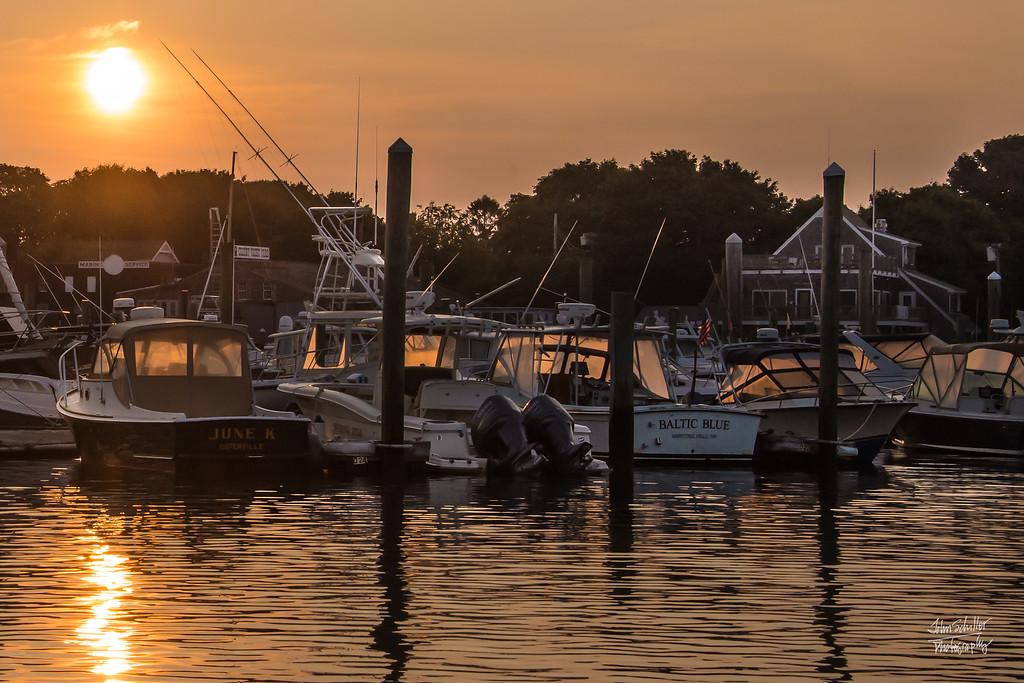 Sunrise over boats