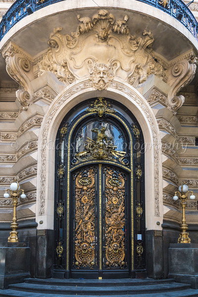 An ornate door on Florida Street in Buenos Aires, Argentina, South America.