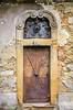 An old door in Zagreb, Croatia.