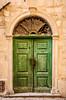 An ornate door in the medieval walled village of Kotor, Montenegro.