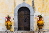 An old doorway in the village of Massa Lubrense, Italy.