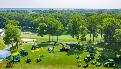 John Deere equipment at TPC at Deere Run