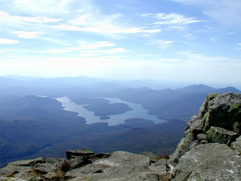 Lake Placid as viewed from atop Whiteface Mountain, Upstate NY