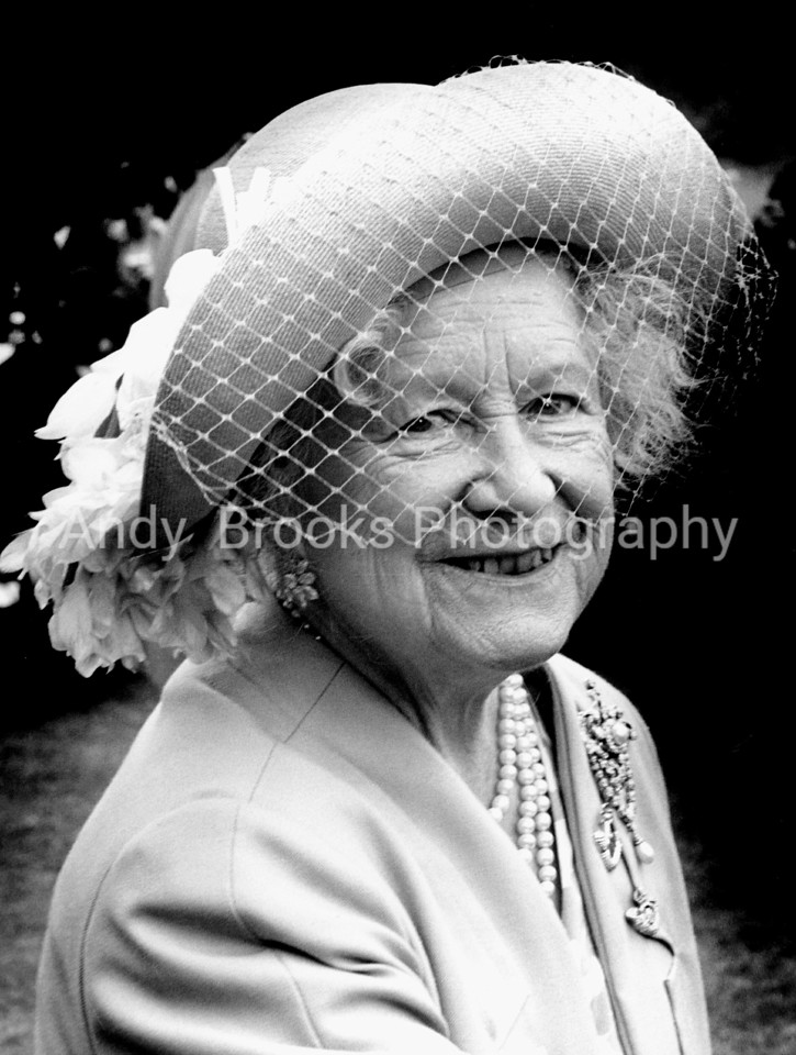 The Queen Mother pictured on a trip to Tidworth Garrison on the 31st of May 1991, to visit the Light Infantry.<br /> <br /> Pic Andy Brooks