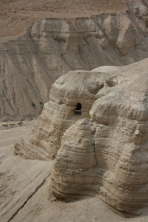 Qumran, Cave where the Dead Sea Scrolls were found