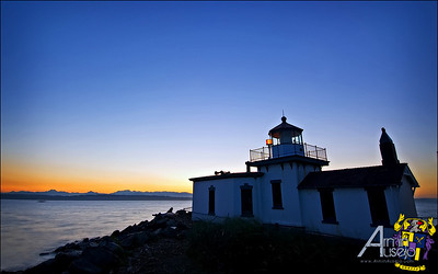 Lighthouse at Discovery Park in Seattle