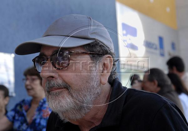 "Brazilian filmmaker Caca Diegues assists at the ""4 x UPP"" film in the Cine Carioca movie theater in the Alemao slum, Rio de Janeiro, Brazil, May 21, 2011. (Austral Foto/Renzo Gostoli)"