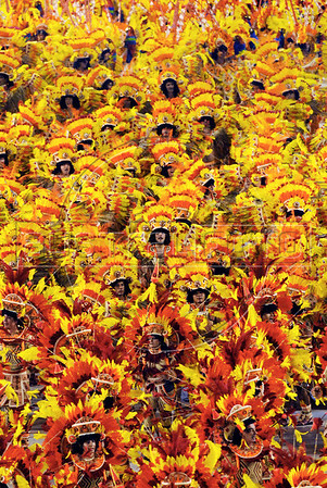 Imperatriz Leopoldinense samba school parades at Sambadrome, Rio de Janeiro, Brazil, February 14, 2009. (Austral Foto/Renzo Gostoli)
