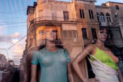 Ghostly reflection - Garment District, Derech Yaffo, Tel-Aviv