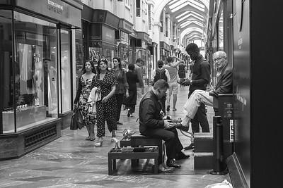 Shoeshine in Burlington Arcade London