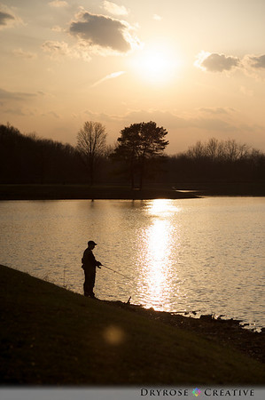 Early evening fishing at Mammoth Park