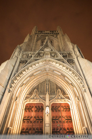 Heinz Chapel at dusk.