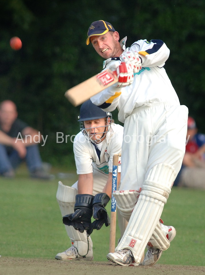Hampshire's John Crawley hits out in the Dimitri Mascarenhas benefit match against Andover at London Road.<br /> <br /> Pic Andy Brooks