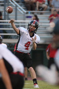 Quarterback Caleb Rowe passes to lead Blue Ridge High school to a victory over Eastside High.