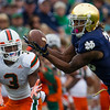 University of Miami at Notre Dame College Football