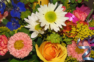 A Bouquet of Flowers Special Effect: Dry Brush