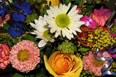 A Bouquet of Flowers Special Effect: Watercolor