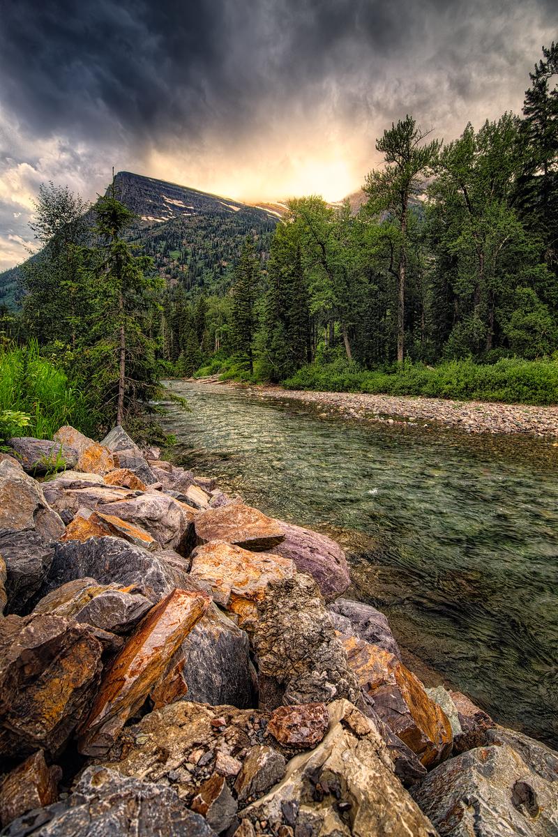 Rocks Leading to the Mountain