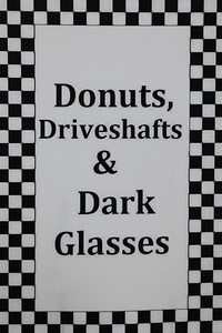 What an event! Who doesn't love donuts, cars and sunglasses???