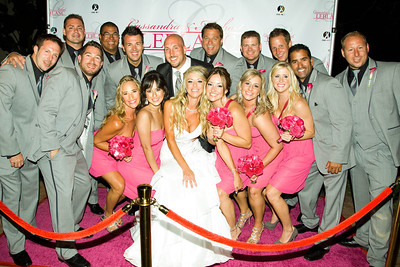 """A wonderful idea, a """"pink"""" carpet event at the reception! They all had a blast!"""