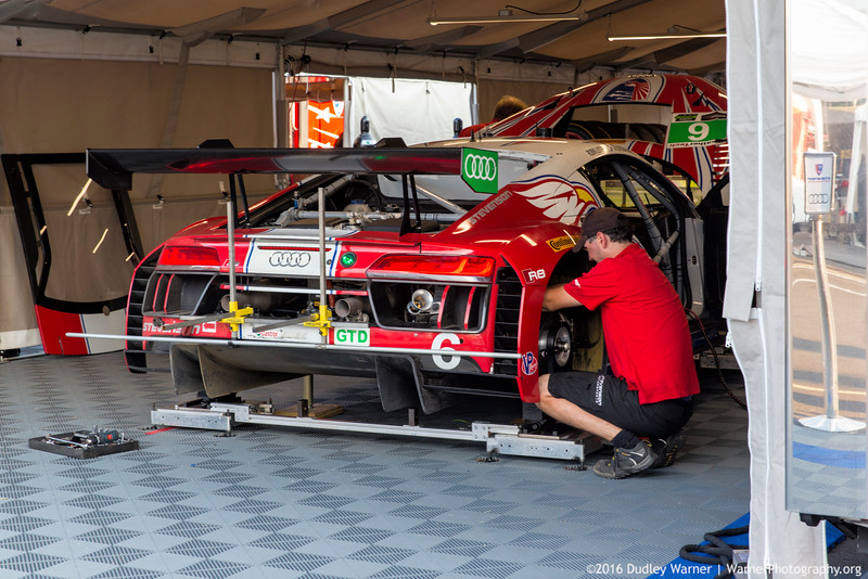 Audi Mechanics at Lime Rock Race Track