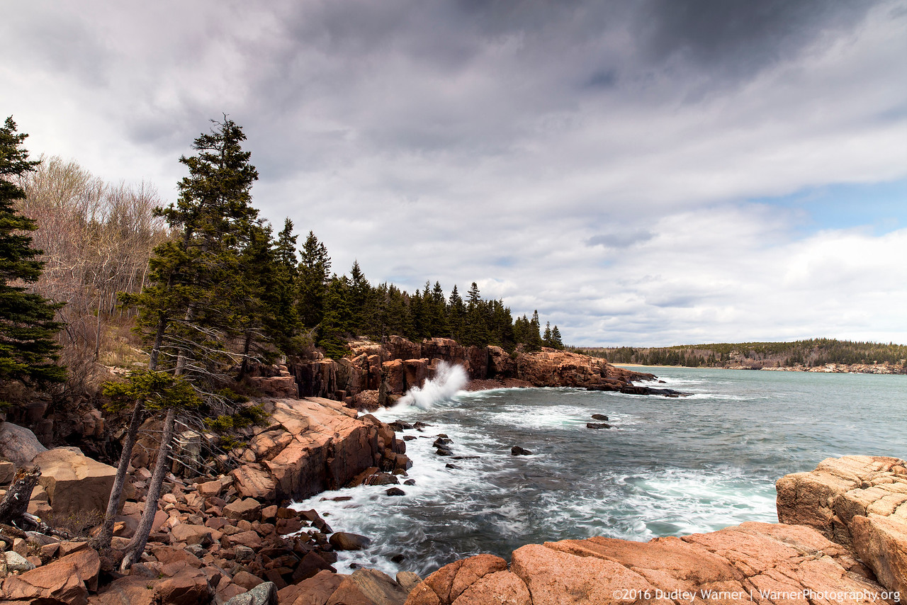 Waves Against the Acadia Coast