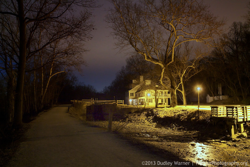 Great Falls Tavern - Winter Night