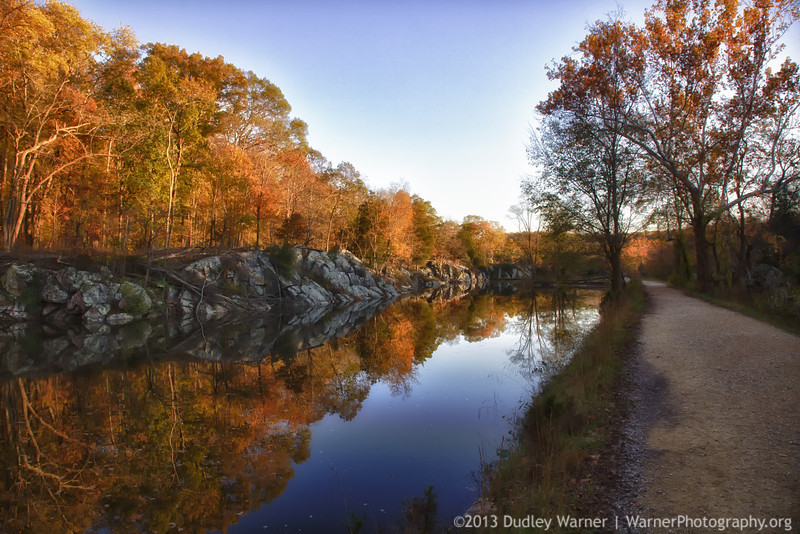 Towpath at the C&O Canal at Sunset