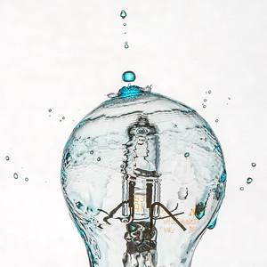 Water Drop on Light Bulb