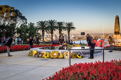 ANZAC service in Kings Park, Perth