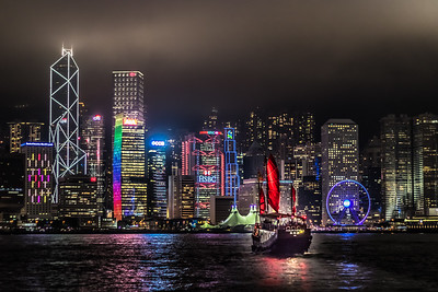 Hong Kong Harbour at Night