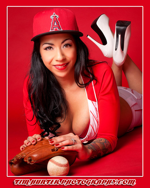 """Tim Hunter's Hunny Bunny Mimi - Anaheim Angels Pin-up <br /> <br />  <a href=""""http://www.timhunterphotography.com"""">http://www.timhunterphotography.com</a>,  <a href=""""http://www.facebook.com/timhunterphotography"""">http://www.facebook.com/timhunterphotography</a>,  <a href=""""http://www.instagram.com/timhunterphotography"""">http://www.instagram.com/timhunterphotography</a>,  <a href=""""http://www.twitter.com/photobytim"""">http://www.twitter.com/photobytim</a>"""