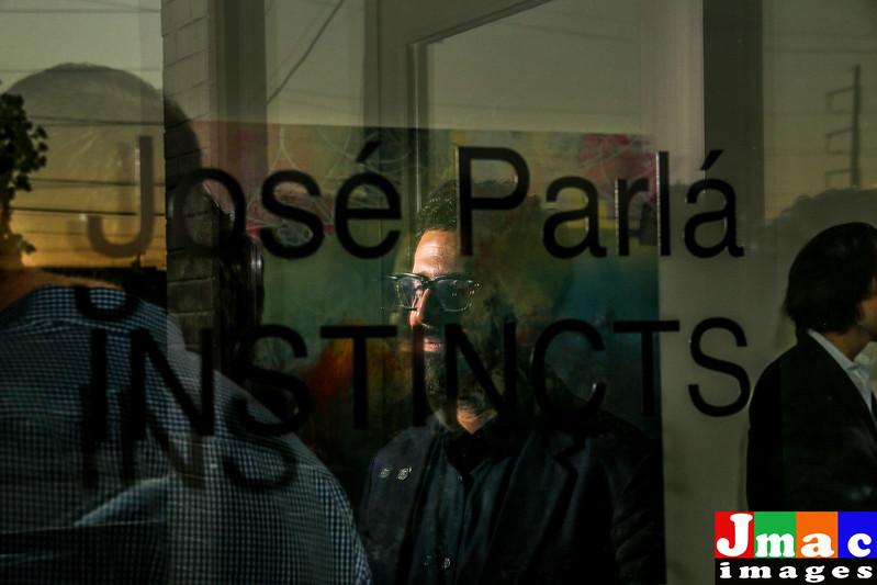 Artist Jose' Parla' at Goss Michael Gallery