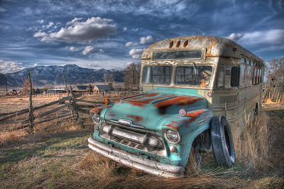Old School bus - Scipio, Utah