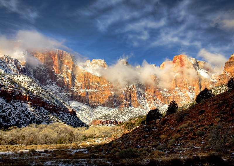 """Towers of the Virgin"" - Zion National Park - Utah"